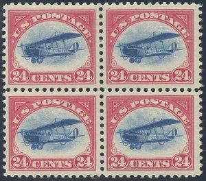 US Scott #C3 Mint, VF, NH/Hinged Block of 4