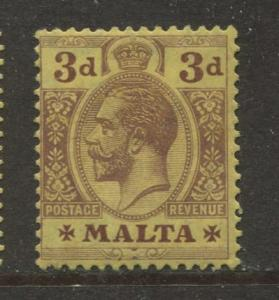 Malta - Scott 54 - KGV Definitives Issue -1922 - MVLH - Single 3d Stamp