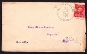 $Florida Machine Cancel Cover, Daytona, 2/25/1909
