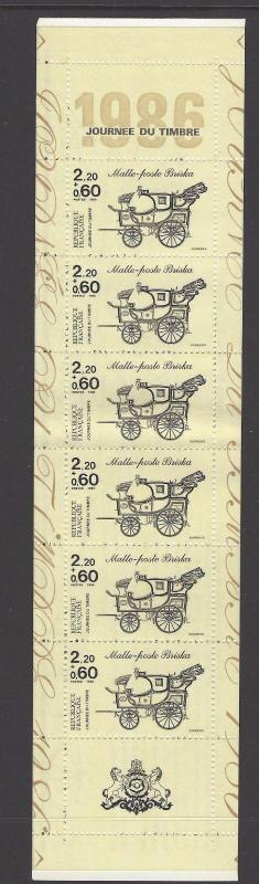 France 1986 Stamp Day Booklet VF (B582a)