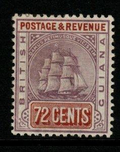 BRITISH GUIANA SG203 1889 72c DULL PURPLE & RED-BROWN MTD MINT