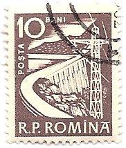 Romania 1351 (used) 10b dam, vio gray (1960)