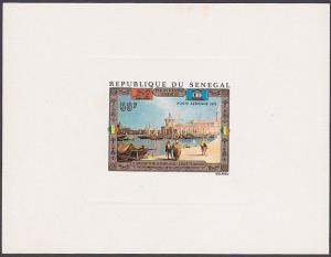 SENEGAL 1972 50f Canaletto Painting deluxe die proof.......................87355