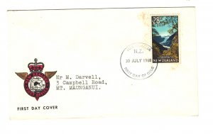 New Zealand Sc#398 First Day Cover - Fox Glacier Cancel