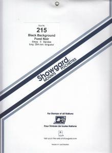 SHOWGARD BLACK MOUNTS 264/215 (5) RETAIL PRICE $18.50