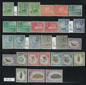 ADEN SCOTT #48-61A 1952-59 QEII PICTORIALS WMK 4 SOME COLOR/PERF- MINT HINGED