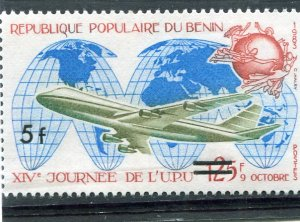 Benin 1982 U.P.U. AIRCRAFT Ovpt. New value Perforated Mint (NH)