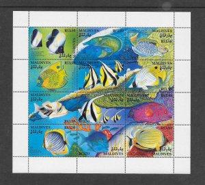 FISH - MALDIVES #1868  MNH