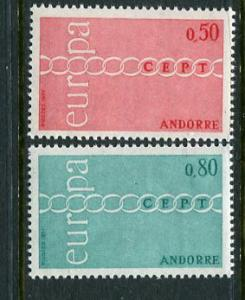 French Andorra #205-6 Mint