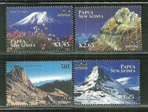 Papua New Guinea MNH 1049-52 Year Of The Mountain SCV 6.50