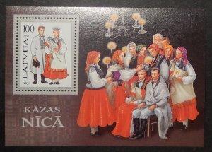 Latvia 401. 1995 Costumes souvenir sheet, NH