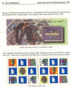 UNLISTED 1997 AVERY DENNISON TEST PANE - RARE!