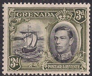 Grenada 1938 - 50 KGV1 3d Black & Olive Green MM SG 158a ( C1301  )