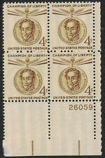 SCOTT # 1110 FOUR CENT LIBERTY ISSUE PLATE BLOCK MINT NEVER HINGED GEM !!