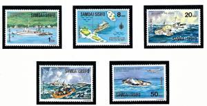 Samoa 415-19 MNH 1975 Ships