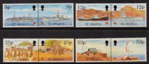ST.HELENA SG690/7 1995 END OF SECOND WORLD WAR MNH