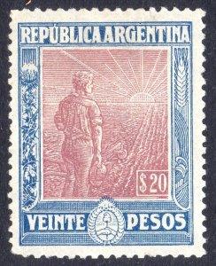 Argentina, 1912 Labrador (Ploughman) 20 pesos, fine unused