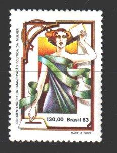 Brazil. 1983. 1953. Women's suffrage. MNH.