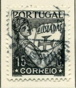 PORTUGAL;    1931 early ' Luciad ' issue fine used value 15c.