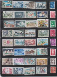 LOT OF DIFFERENT STAMPS OF FRANCE  USED (40) LOT#388