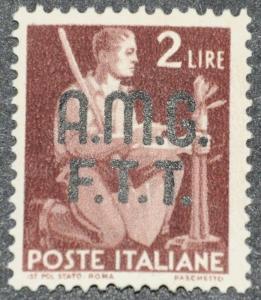 DYNAMITE Stamps: Trieste Scott #4 – USED
