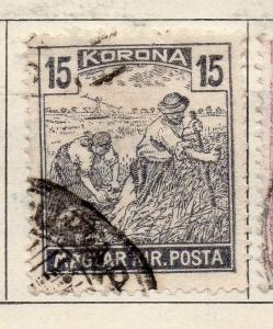 Hungary 1923 Early Issue Fine Used 15k. 234589
