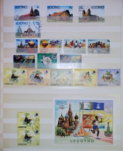 Lesotho Africa Moscow Olympics Butterflies Architectural MNH** Used Stamps 14941
