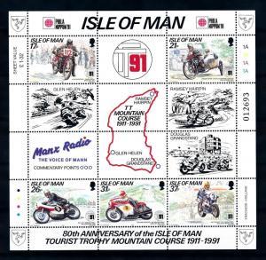 [73187] Isle of Man 1991 Sport Motorracing Motorcycle Phila Nippon Sheet MNH