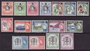 Jamaica-Scott#159-74-Unused hinged [some hinge remnant] QEII set-1956-