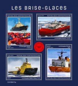 C A R - 2019 - Icebreakers - Perf 4v Sheet - MNH