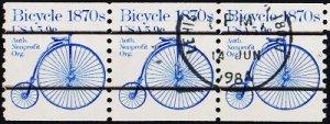 USA. 1981 5.9c(Strip of 3) S.G.1872 Fine Used