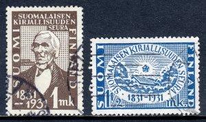 Finland - Scott #180-181 - Used - Creasing #180 - SCV $13