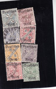 Württemberg: Sc #0176-0183, Complete, Used (S18322)