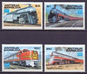 Antigua and Barbuda. 1986. 944-47. Train steam trains. MNH.