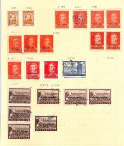 SA1117 ARGENTINA Official Overprint Original Album page from oldtime collection