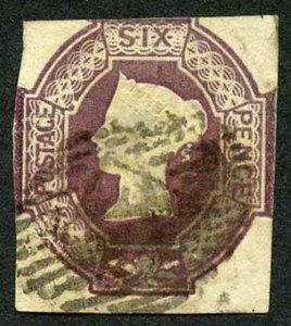 SG64wk 6d Dull Lilac (wmk INVERTED and REVERSED) THIN Cat 1000 pounds