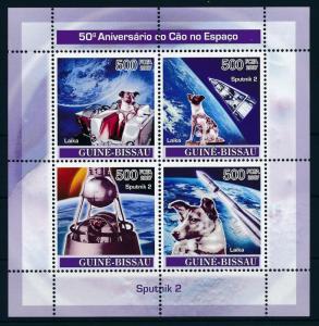 [96505] Guinea Bissau 2007 Space Travel Laika Dog Sheet MNH