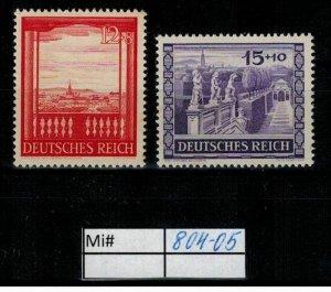 Deutschland Reich TR02 DR Mi 804-05 1939 Reich Postfrisch ** MNH