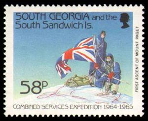 SOUTH GEORGIA #139-142 COMPLETE SET MINT NEVER HINGED