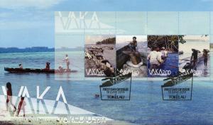Tokelau 2014 FDC Vaka 4v M/S Cover Boats Sea Transport