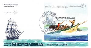 Micronesia, Worldwide First Day Cover, Ships, Whales