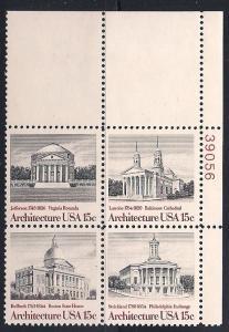 Plt Blk Sc#1779 82 American Architecture MNH #39056 UR