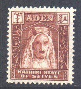 Aden Seiyun Scott 2 - SG2, 1942 3/4a MH*