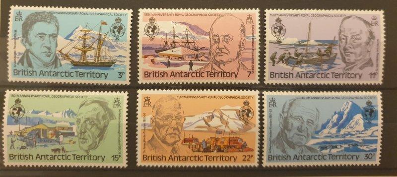 British Antarctic Territory Former Presidents Set Of 6 UM/M 1980