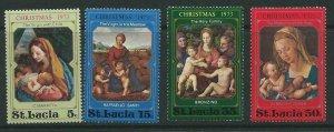 ST.LUCIA SG361/4 1973 CHRISTMAS MNH