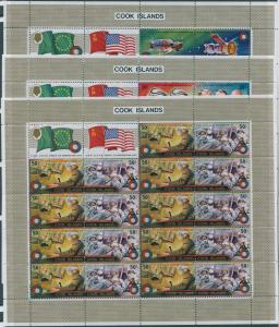 Cook Islands 1975 SG518-523 Apollo Soyuz sheets set of 3 MNH
