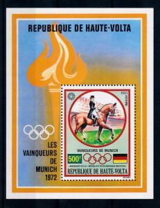 [55598] Burkina Faso Upper Volta 1972 Olympic games Munich Equestrian MNH Sheet