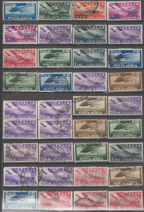 COLLECTION LOT OF #1116 ITALY AIR MAIL 36 STAMPS 1945+ CLEARANCE CV+ $36