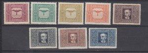 J29489, 1922-4 austria set mh #c4-11 airmails