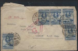 GOLD COAST  (P2209B) 1939 KGVI 3DX5 CENSOR #5 A/M TO LONDON